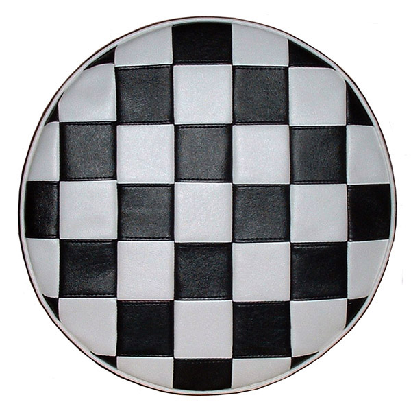 Checkered Scooter 10 inch wheel Spare Tire Cover Vespa Bajaj